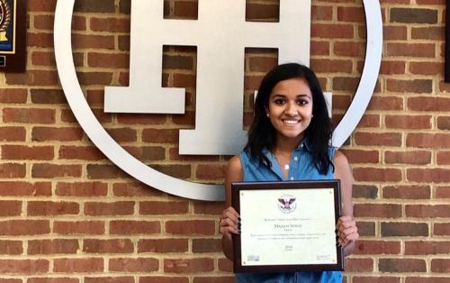 IHHS Student Manasi Singh