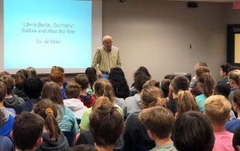 Dr. Al Miller presents to IHMS students