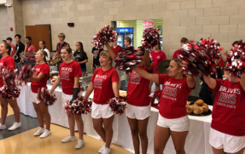 IHHS Cheerleaders on Staff Opening Day