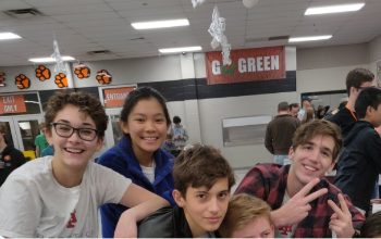 (L to R) Jena Bennett, Jenny Zhang, Kevin Lewis, Caleb Zender