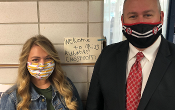 Teacher Mici Eubanks and Kirk Koennecke
