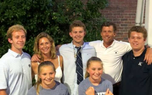 Peter Klekamp with his family