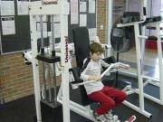 Boy in Fitness Center