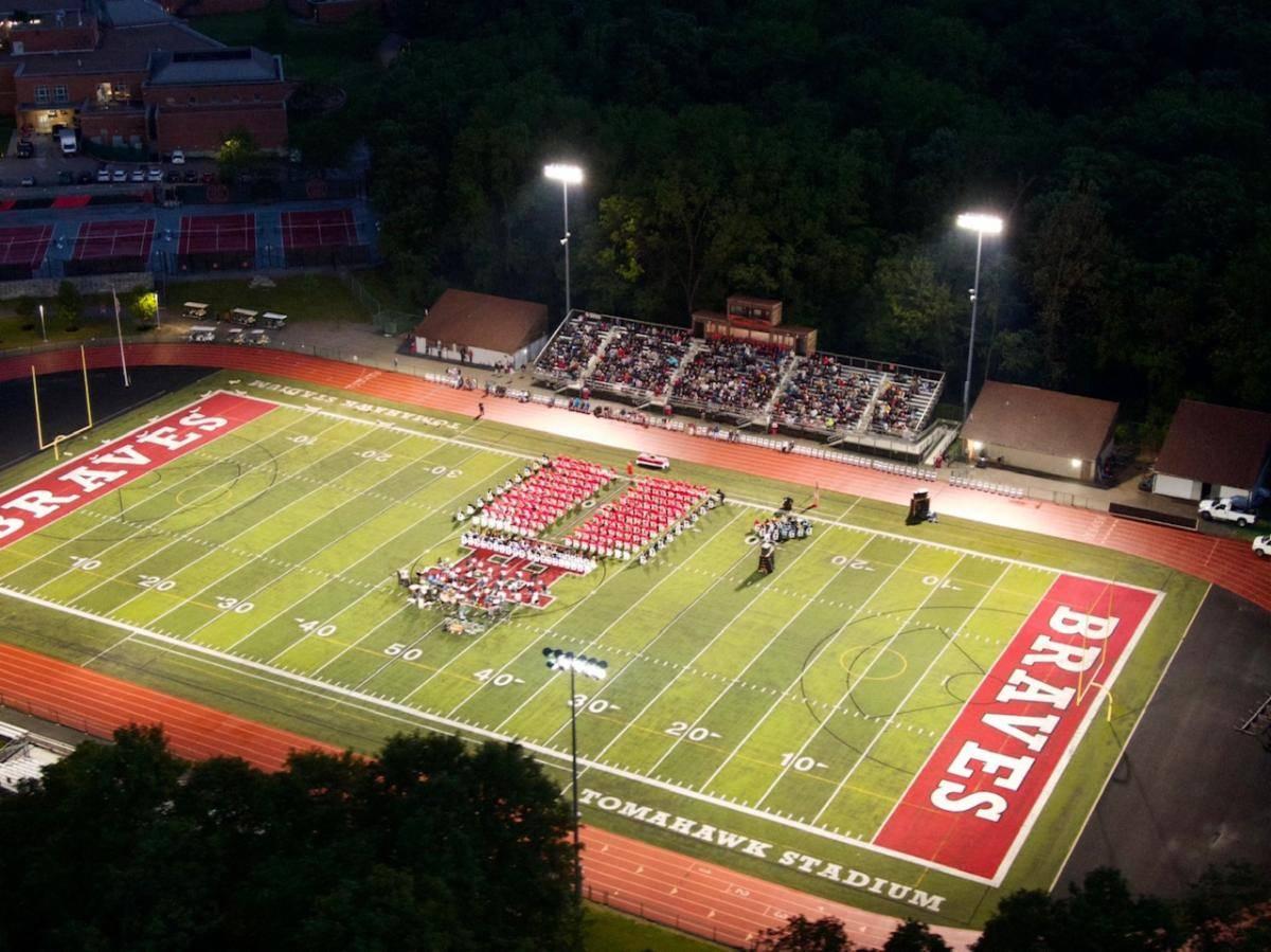 Drone view of Tomahawk Stadium